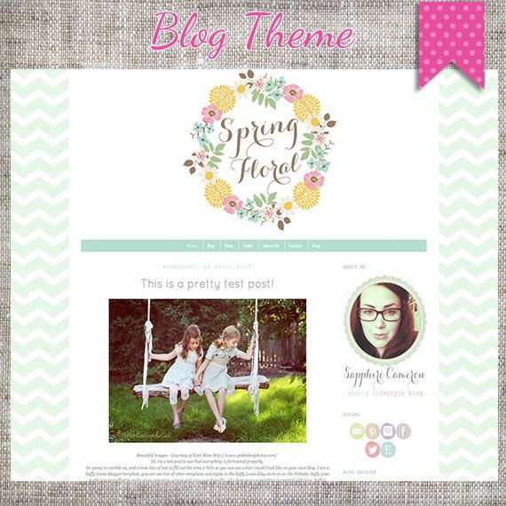 Another Blogger template - love the chevrons
