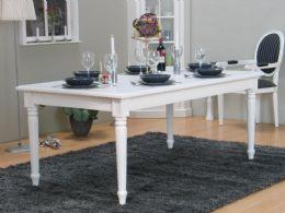 Amaretta spisebord 100x180/230 inkl. 1 ekstra plate antikk hvit. Kan kjøpe én plate til.