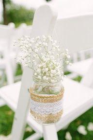 My wedding decor!!! Baby's breath EVERYWHERE!!!