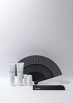 サンケアセット | 真夏の美肌にサンケアセット。ケース付きオリジナル扇子もプレゼント。