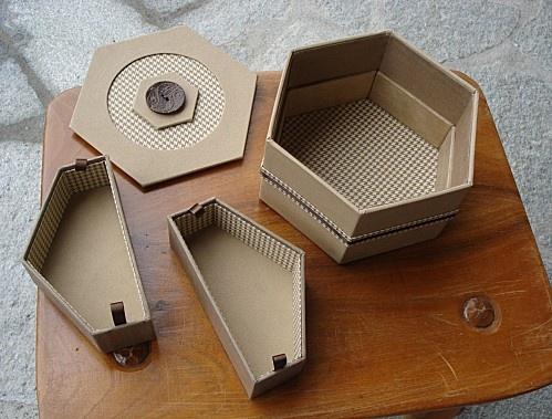 boite hexagone-cartonnage inspiration