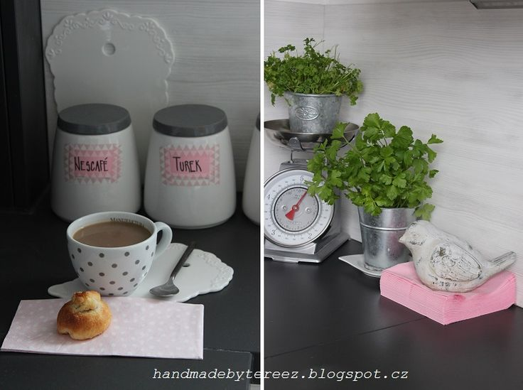 Kitchen, spring, pink, softness, coffee ...