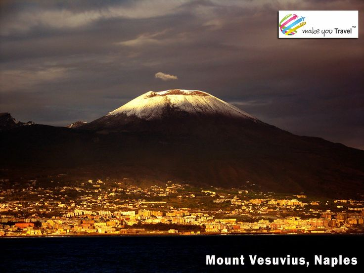 #Mount_Vesuvius is a stratovolcano in the Gulf of Naples, Italy, about 9 kilometers (5.6 mi) east of Naples and a short distance from the shore. It is one of several volcanoes which form the Campanian volcanic arc. Vesuvius consists of a large cone partially encircled by the steep rim of a summit caldera caused by the collapse of an earlier and originally much higher structure. Visit #Mount Vesuvius with #Italy_Holiday_Package at Rs.110000