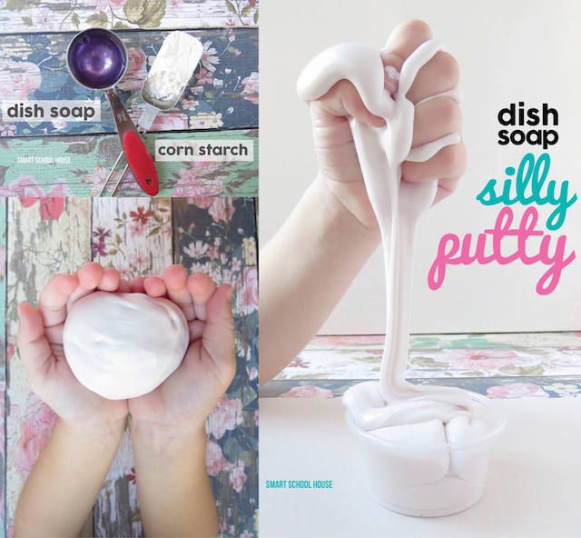 how to make silly putty with dish soap