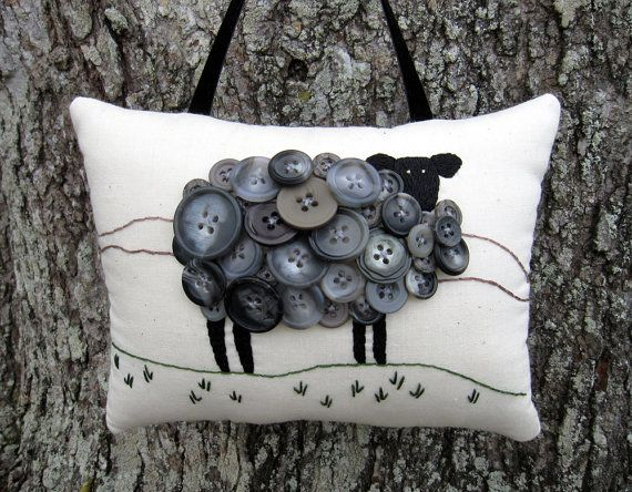 Primitive Ireland Black Sheep Embroidery by WickedlyCreative