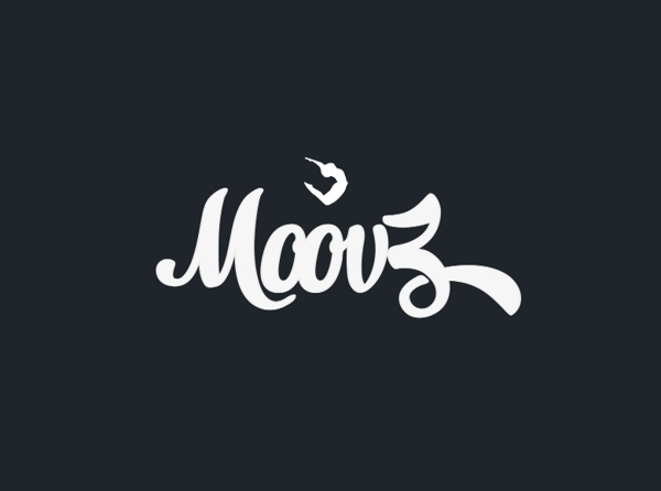 Moovz dancing logo by Miwosz Sparidaans, via Behance