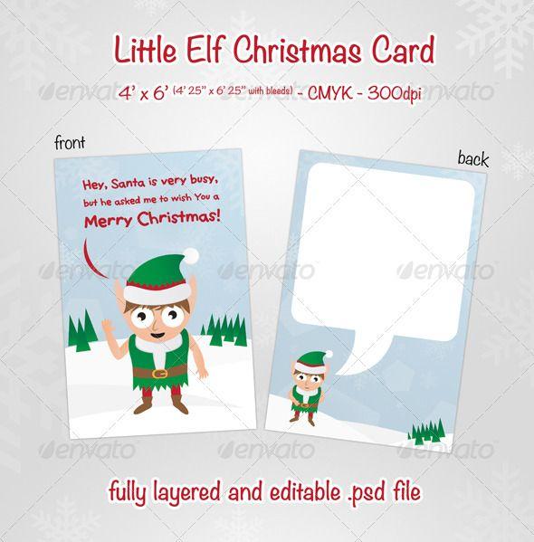 Little Elf Christmas Card