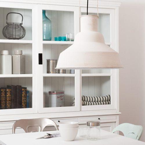 lampadario stile industriale : Lampadario bianco stile industriale in metallo D 40 cm LOCTUDY by ...