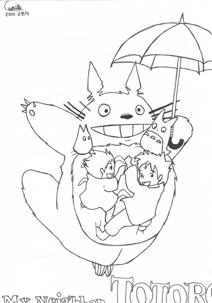 Mon Voisin Totoro Coloriage