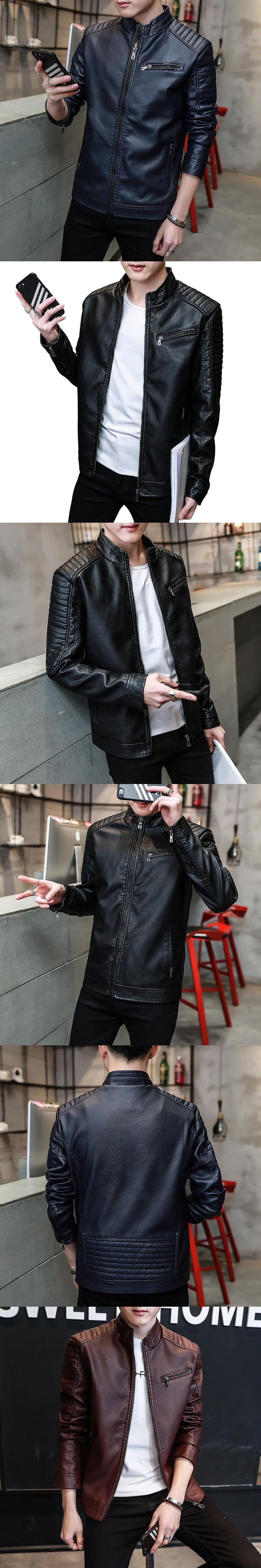 Mens casual winter motorcycle  male pu moto leather jacket men coat chaquetas hombre casaco masculino jaqueta de couro 18635