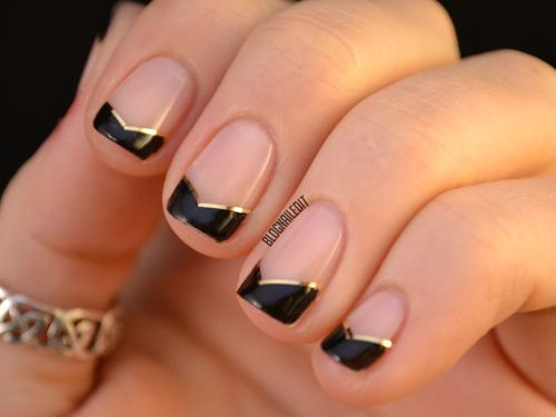 6 french manicures that are far from boring manicure ideas manicure and inspiration. Black Bedroom Furniture Sets. Home Design Ideas