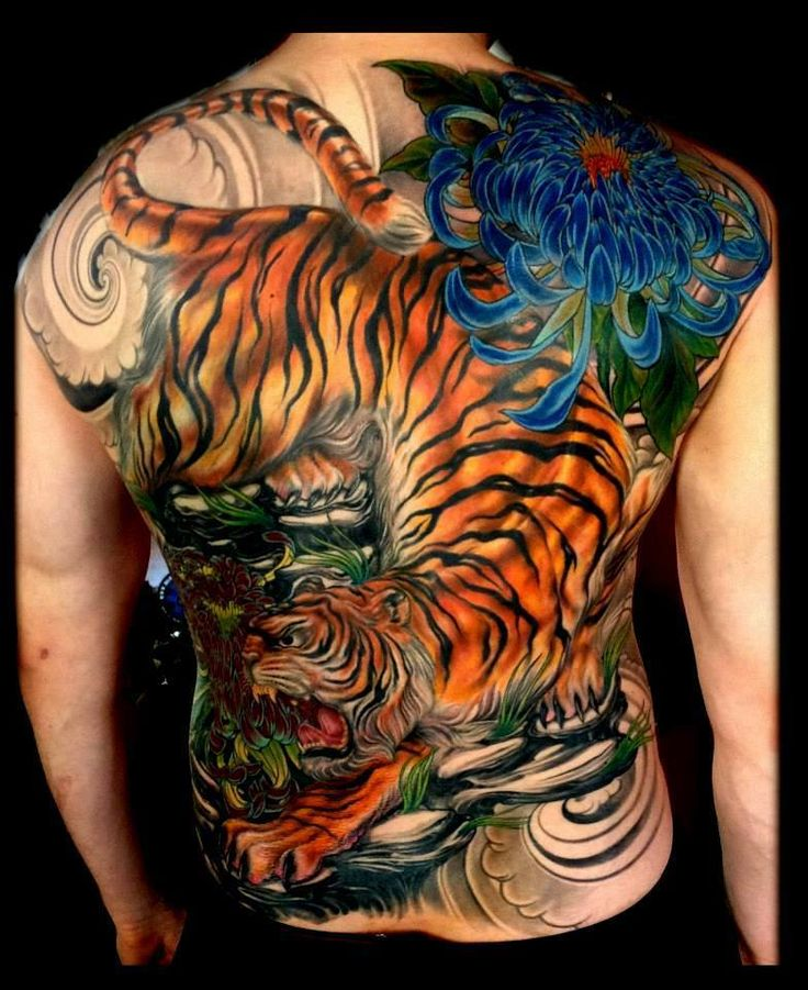 Tiger back piece | tattoos | Pinterest | Back pieces and ...