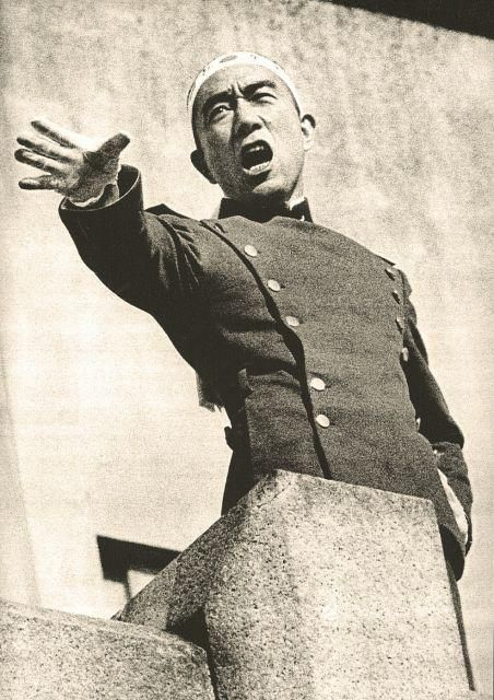 I'm writing a research paper on Mishima Yukio for my Biography/History class. He is such a fascinating person - terrifying - but fascinating.