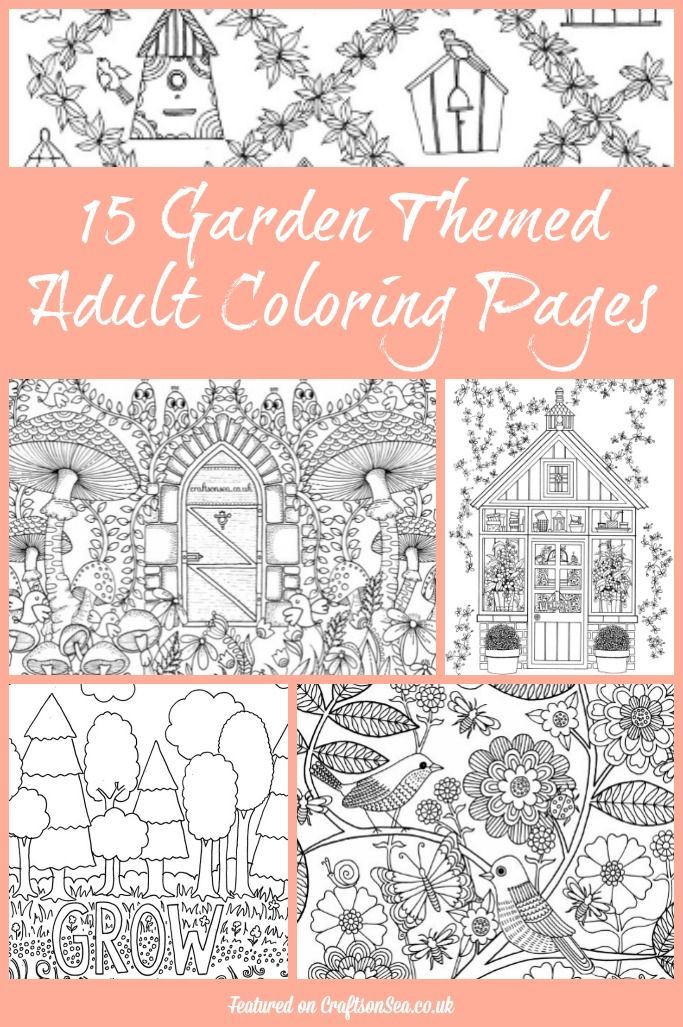 15 Free Garden Themed Adult Coloring Pages Gardens