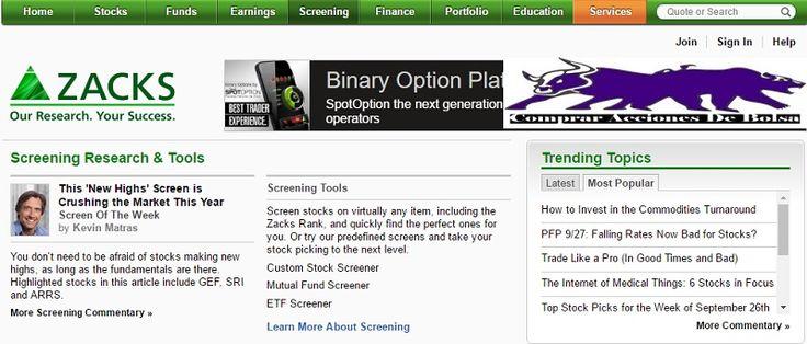 Descubre como utilizar un Stock Screener de análisis fundamental ¿como funciona el Stock Screener de Zacks.com? Buscar empresas por ratios fundamentales