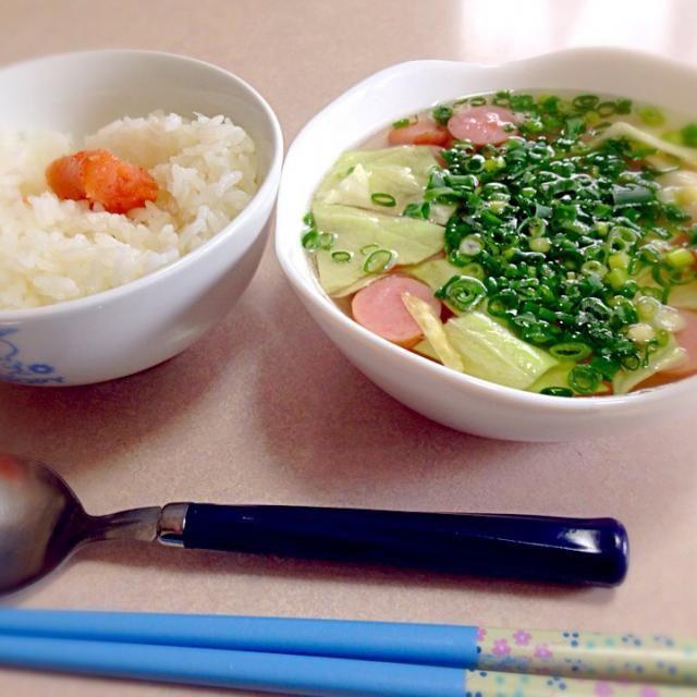 簡単にすぐ出来た‼︎ - 13件のもぐもぐ - ご飯とスープ by music1997