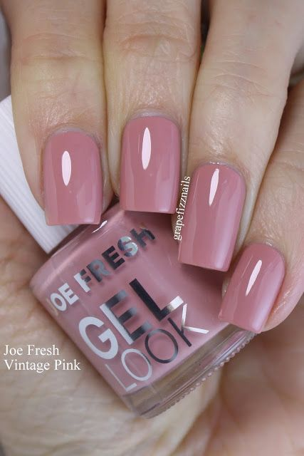 Joe Fresh Vintage Pink Is A Gorgeous Dusty Rose Shade That You Know Right Up My Alley Nail Polish