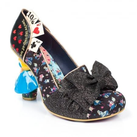Irregular Choice Alice In Wonderland 2 4298-4A Wonderland This Way Womens Character High Heel Shoes - Black
