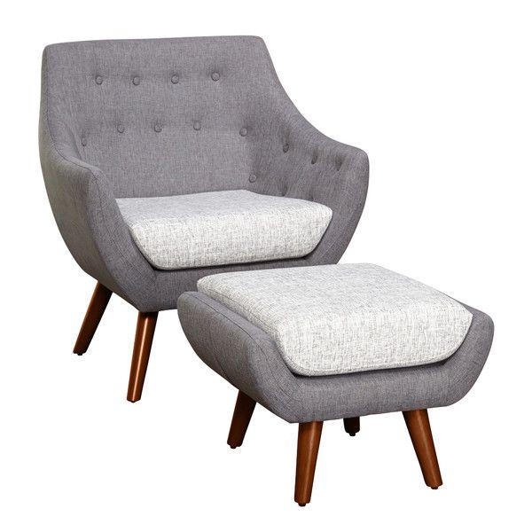 Murfreesboro 2 Piece Arm Chair and Ottoman Set