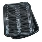 2-Piece Porcelain Broiler Pan in Black