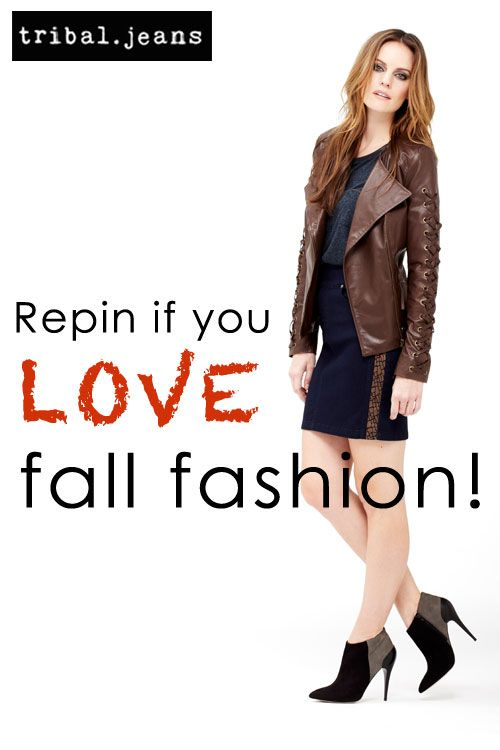 Fall is the best season for fashion. Wouldn't you agree? #fall #fashion #tribaljeans