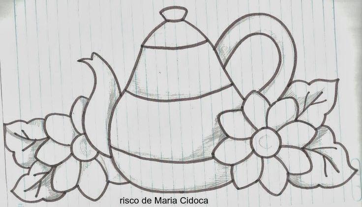 Maria Cidoca é uma artesã que tem nos presenteado com lindos desenhos no facebook.  Eu editei alguns e trago para as amigas e amigos se insp...