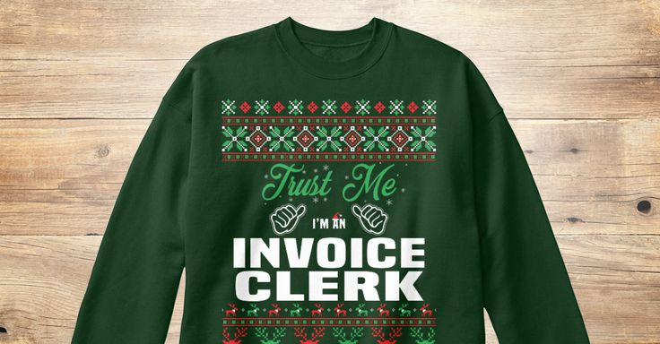 Invoice Clerk Funny, Dads And Hoodies   Custom Made Invoices  Custom Made Invoices