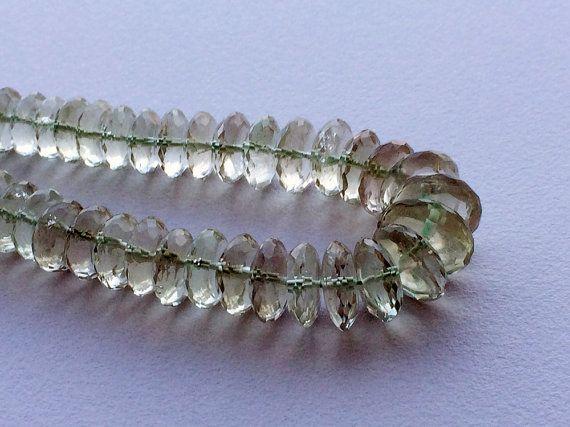 Green Amethyst German Cut Beads Amethyst Disc by gemsforjewels