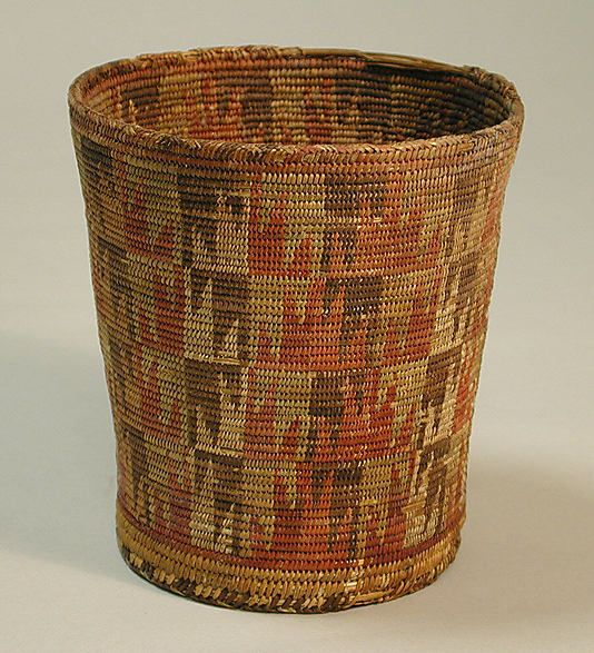 Basket Bowl  Date: 7th–10th century Geography: Bolivia Culture: Tiwanaku Medium: Plant fiber Dimensions: H. 4 3/4 x Diam. 4 1/2 in. (12.1 x 11.4 cm) Classification: Basketry-Container