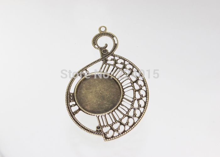 New Fashion Jewelry Metal Finding Filigree Wraps Connector For Pendant Earring Making,Fit 25mm Rhinestone Cabochon,80*50mm/50pcs