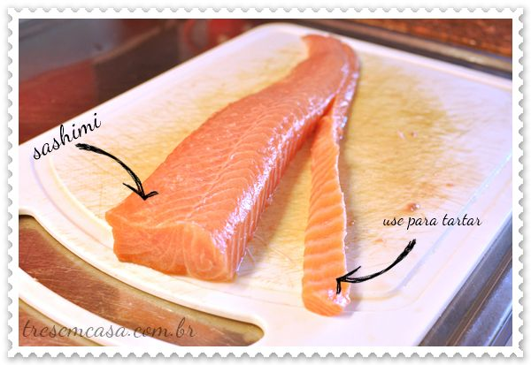 sashimi de salmão como fazer