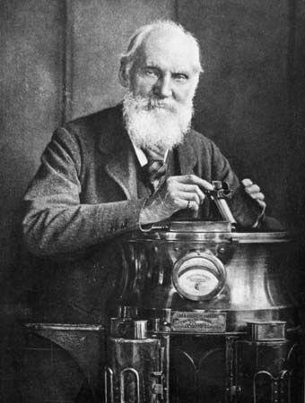 William Thomson, Baron Kelvin, with his compass, 1902.