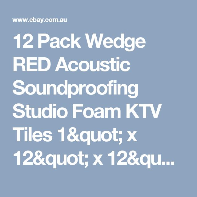 "12 Pack Wedge RED Acoustic Soundproofing Studio Foam KTV Tiles 1"" x 12"" x 12"" 