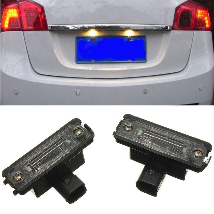 2X OEM LICENSE NUMBER PLATE LIGHT LAMPS FOR VW SMD LED LUCI TARGA PER VOLKSWAGEN GOLF/ JETTA POLO PASSAT B6 - $8.99
