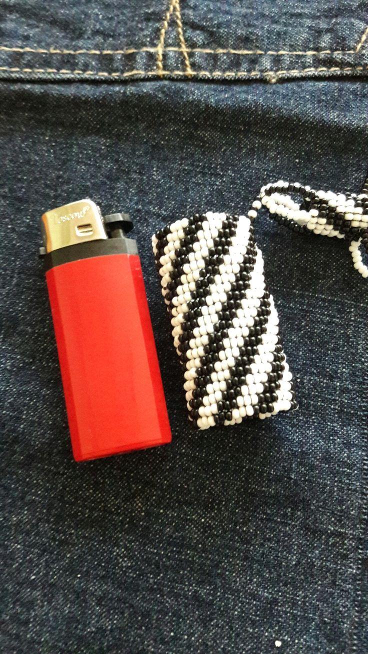 Bjk çakmak kılıfı  Lighter cover Kum boncuk çakmak kılıfı