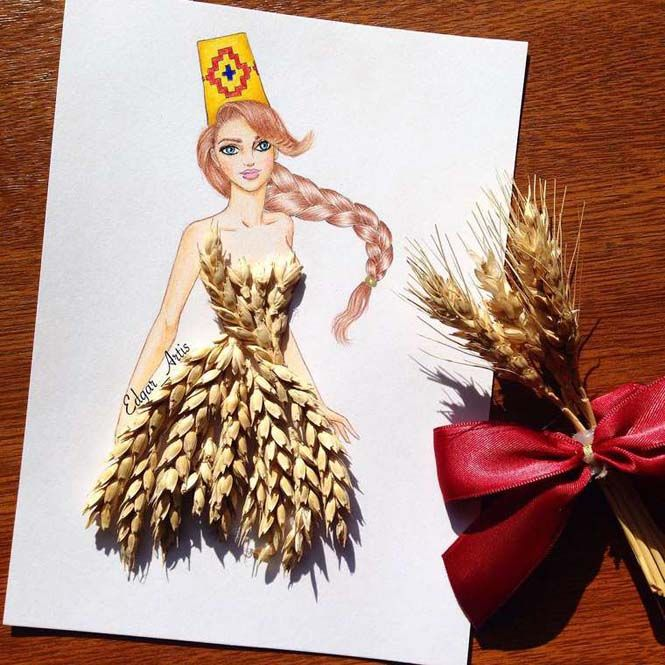 Wheat Dress 3D
