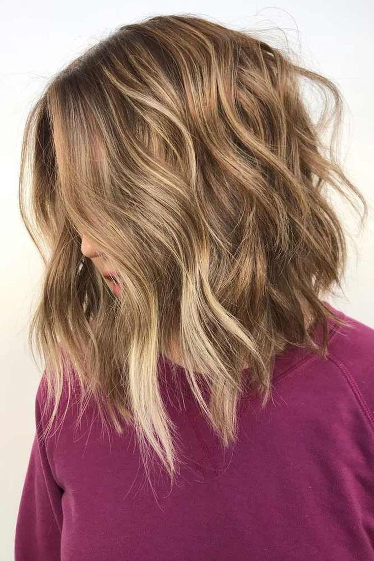 20 Pretty Wavy Frisuren Ideen Nur Fur Frauen Frauen Frisuren Ideen Pretty New Haar Styling Schulterlange Haare Frisuren Medium Haare