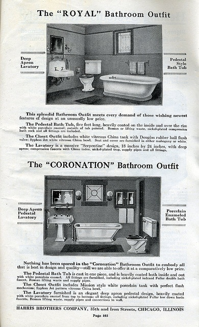 Craftsman Bathrooms available in Harris Homes in 1920