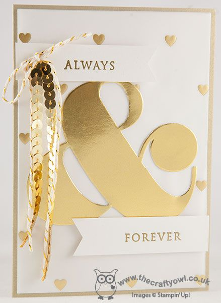 Always and Forever Golden Wedding Anniversary Card This Day Forward, Ampersand TIEF, Joanne James Stampin' Up! UK Independent Demonstrator, blog.thecraftyowl.co.uk
