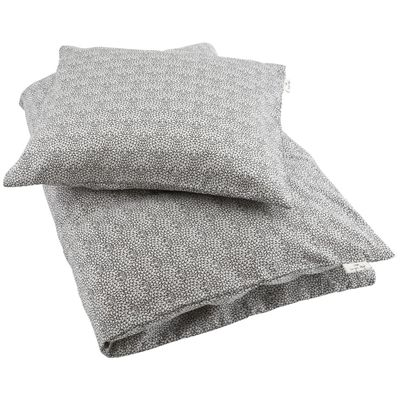 Konges Sløjd sengetøj, junior, Botanic marshmallow. Køb hos Naturebaby