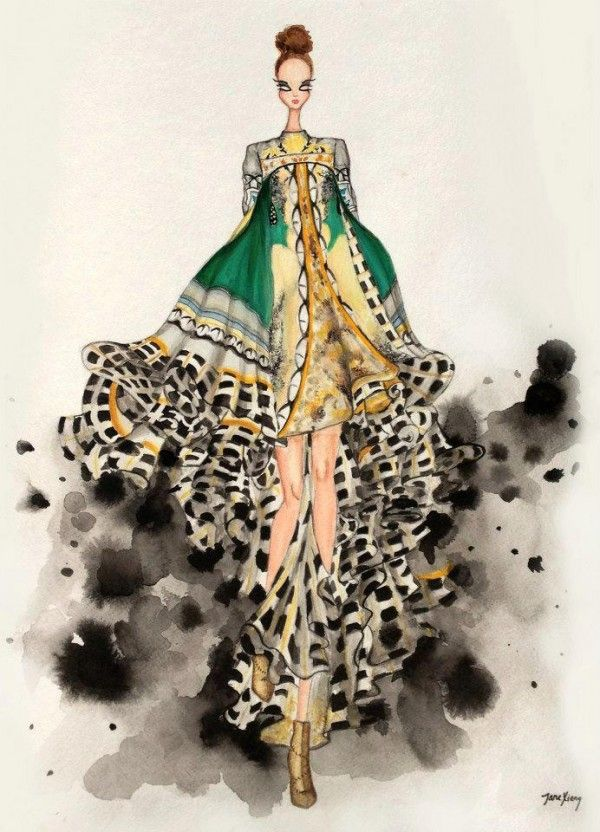 Croquis de Marcas e Estilistas Famosos - A magia da ilustração de Moda                                                                                                                                                                                 Mais