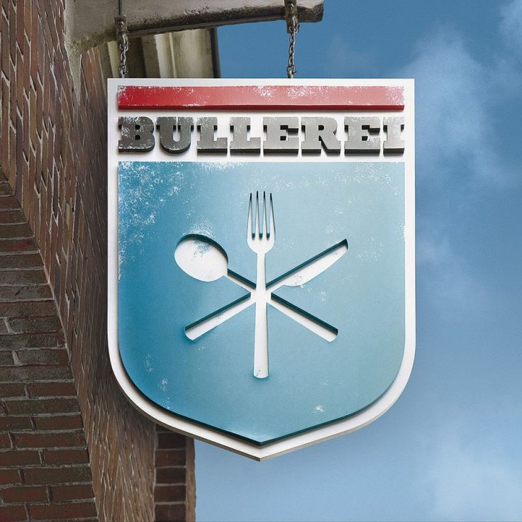 Great looking dimensional sign. Bullerei Restaurant and Deli by weissraum.de(sign)