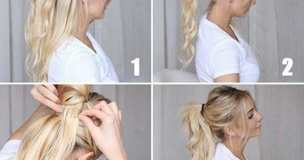 The best hairstyles for long hair – Fresh horsetail – Step by step and