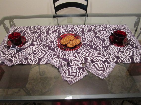 Table Runner And 4 Napkins Tea Towel And Napkins By Vertzvkv