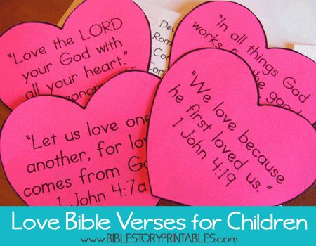 Love Bible Verses for Kids.  8 different verses, one a week through February!  Envelope & Checklist for each verse.