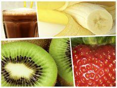 SMOOTHIE PARA LOS COLICOS Ingredientes 1 taza de leche 1 cucharada de jarabe de chocolate (o chocolate en polvo) 1 taza de fresas desinfectadas 1 kiwi pelado ½ plátano Coloca todos los ingredientes en la licuadora con una taza de hielo y pruébalo. Si sientes que le falta azúcar agrega un sobre de sustituto de azúcar y vuelve a mezclar.