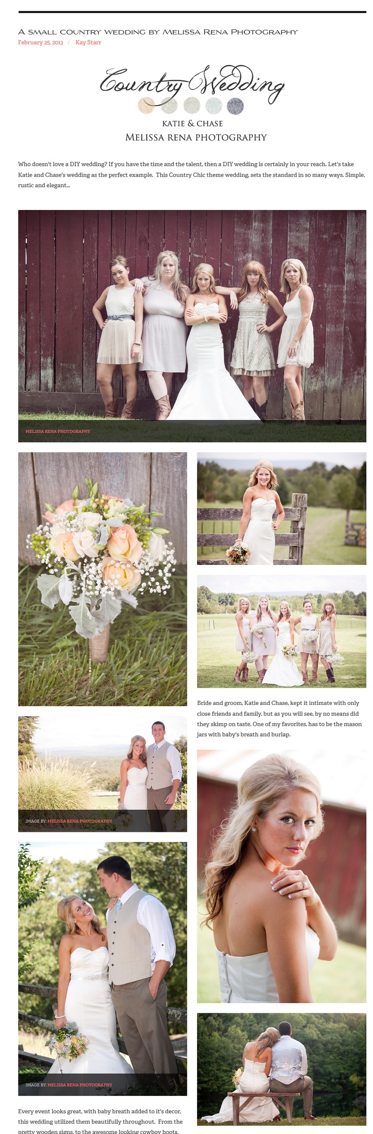 A small country wedding by Melissa Rena Photography love dress