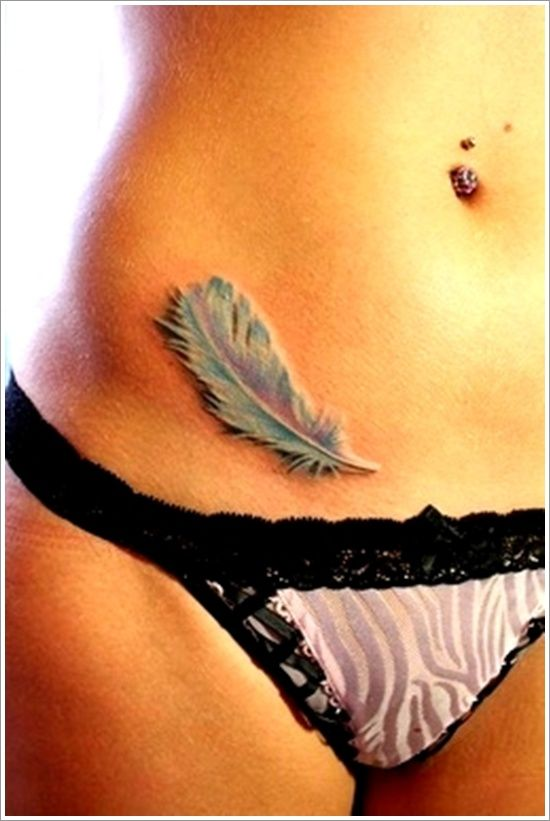 Persevering Your Feather Tattoos ideas: 3d Feather Tattoo Designs For Women ~ Men Tattoos Inspiration