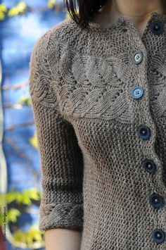 Lovely cardigan. I made one for my sister. Might have to make one for myself.