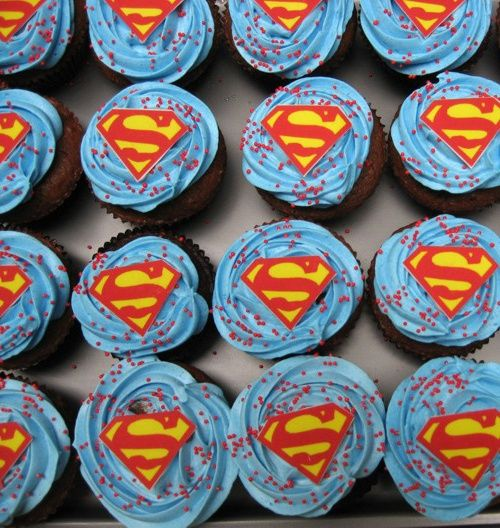 superman cupcakes pinterest | Superman cupcakes @Christopher Keri Kuiper per my inquiry!